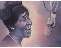 Aretha Franklin 11 x 14 giclee print