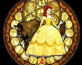 Cross Stitch Pattern for Belle Beauty and the Beast Kingdom Hearts Princess