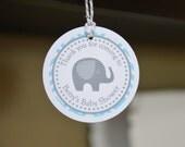Elephant favor tags, Elephant baby shower, elephant, set of 12 favor tags