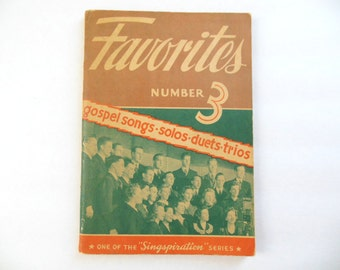 1951 Gospel Songs 95 page Book Singspiration Series