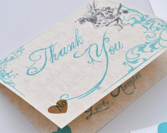 Digital or Printed Alice in Wonderland Thank You Cards
