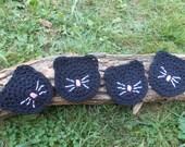4 Black Cat Coaster