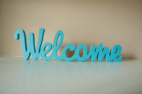 Welcome Sign, Home Decor, Wood Sign