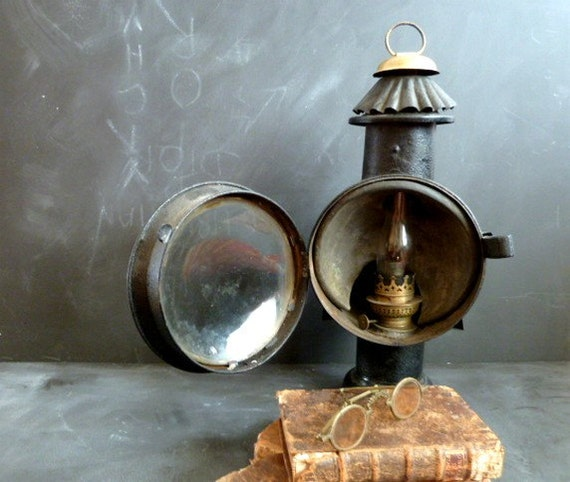 Pottery Barn Carriage Lamp: Antique French Carriage Lamp Lantern Lamp Oil Carriage
