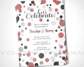 Mono Dot Engagement or Event Invite - DIY Printable
