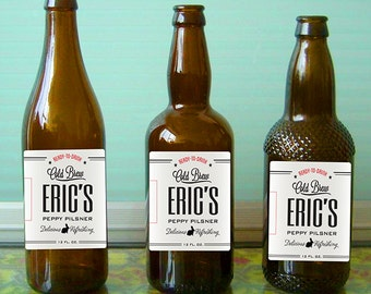 Custom beer bottle labels for birthdays and other special events