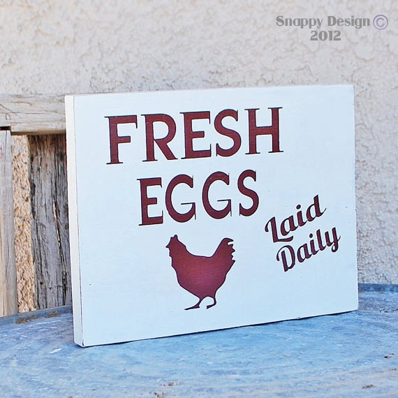 Fresh Eggs Farm Country Kitchen Sign