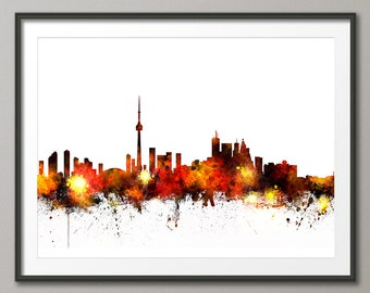 Toronto Skyline, Toronto Canada Cityscape Art Print (1073)