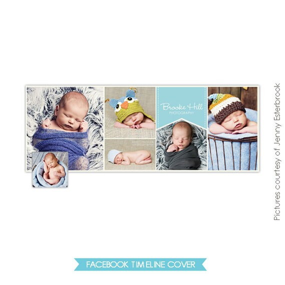 Facebook custom timeline cover - Photoshop template -  E345-5