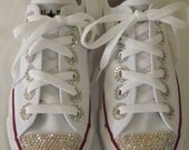 Rhinestone Bling Custom Converse Chuck Taylor All Star Sneakers Low Top