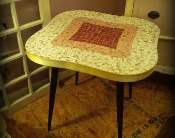 Retro Mosiac Side Tables