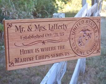 Patriotic Family Sign, Military Retirement Sign, Semper Fidelis, Benchmark Custom SignsPatriotic Family Sign Cherry MF