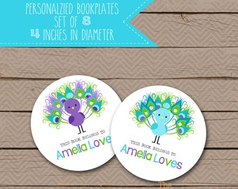 Personalized Bookplates - School Bookplates - Book Plate - Nameplate - name plate - 006