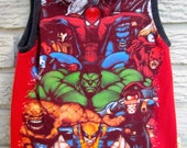 3T Upcycled Tank Top / Muscle Shirt: Spiderman, Hulk, Wolverine, Captain America, Black Friday/Cyber Monday/Free Shipping /Gifts under 50
