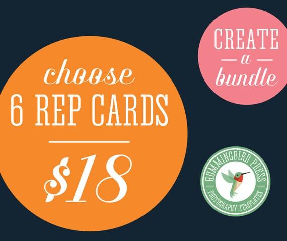 CUSTOM Bundle - Choose any 6 Rep Cards priced at 5 dollars each