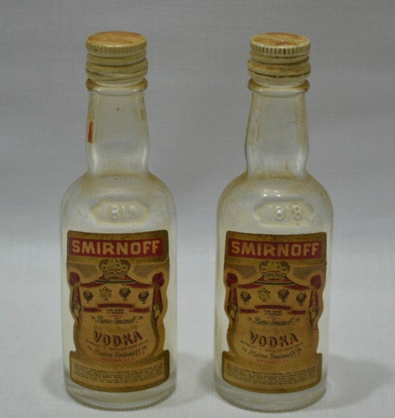 Items Similar To Vintage Smirnoff Vodka Mini Liquor Bottle