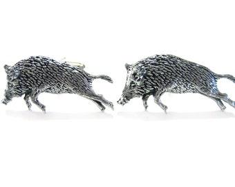 Wild Boar Pendant Cufflinks