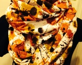 Jackson Pollock Infinity Scarf/medium weight knit
