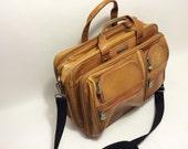 Leather bag Vintage travel bag Computer bag Documnets bag Brown Leather