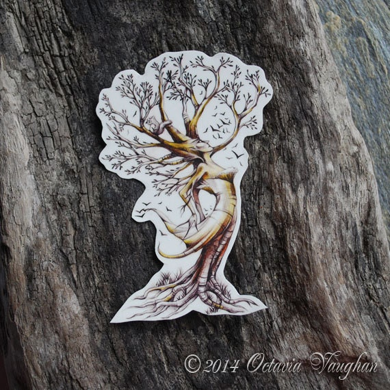 Dryad Temporary Tattoo Tree Temporary Tattoo By OctaviaTattoo