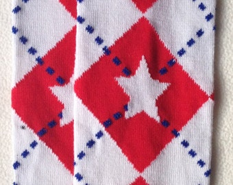 Fourth Of July Argyle Star Baby Legs / 4th Leg Warmers/ Independence Day Baby Ware/ Fourth of July Photo prop/ baby clothing/ July Baby