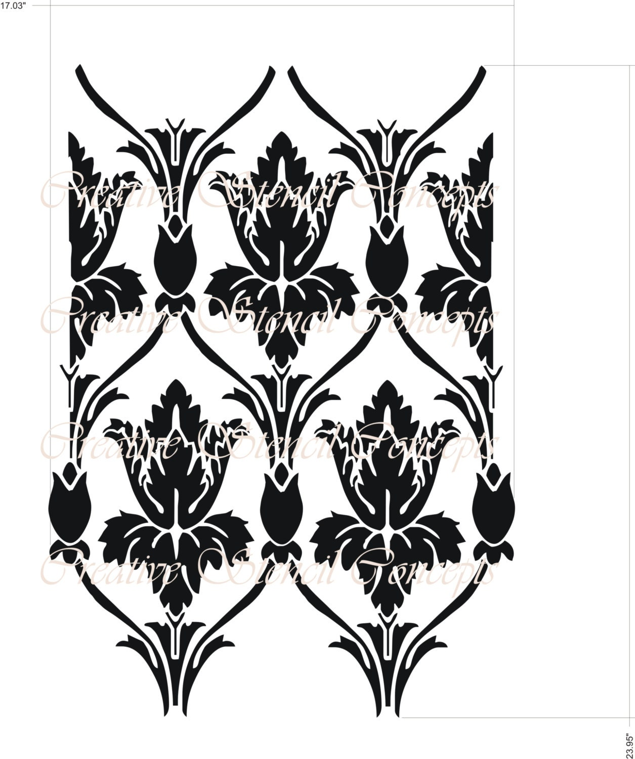Sherlock Holmes Damask Allover Decorative Stencil From Tv