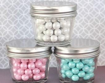 Mini Mason Jars - Set of 100 - Wedding Favors Party Favor - 4 oz Glass Jar