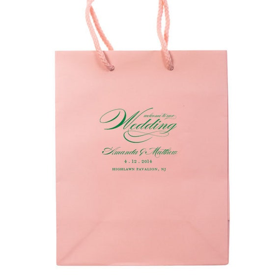 Personalized Wedding Gift Bags For Guests : Wedding Welcome Bags - Personalized Hotel Guest Bag Party Favors Foil ...