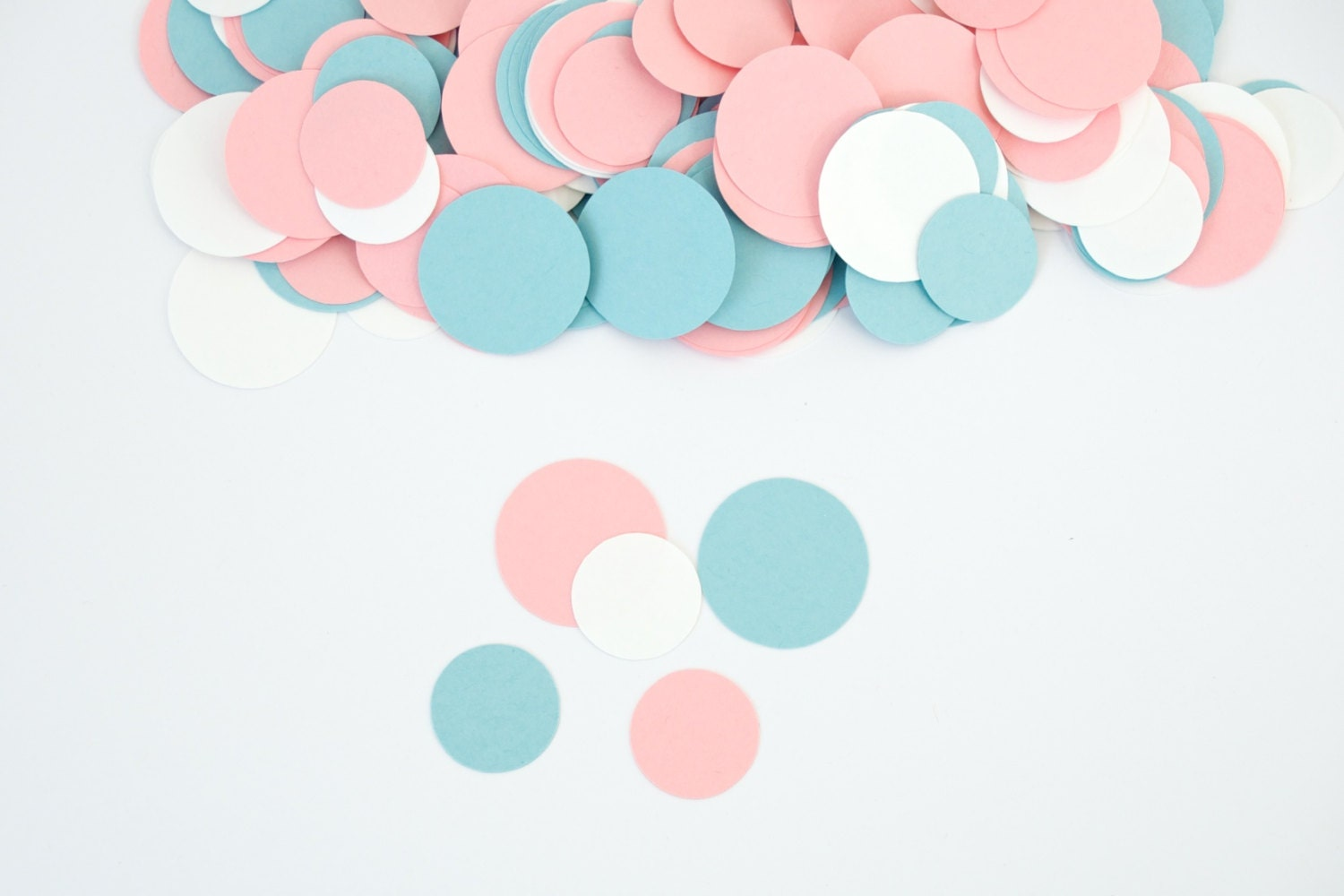 Baby shower decoration circle confetti gender reveal for Baby confetti decoration