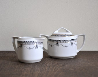Vintage Hand Painted Ceramic Japanese Tea Set