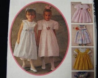 McCalls Girls Dress Pantaloons Easter Formal Party Wedding Sewing Pattern 7016 Size 7 Uncut UC FF