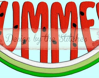 Watermelon Summer INSTANT DOWNLOAD Embroidery Design