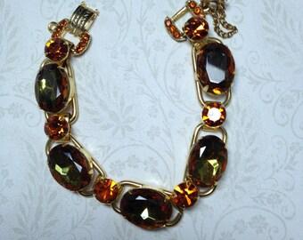D&E aka Juliana 5 Link Bracelet Faceted Topaz Ovals   Item No: 16871