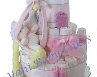 Unique Baby Shower Centerpiece / Baby Girl Special Delivery Stork Diaper Cake