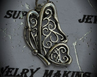 Butterfly Sterling Silver Plated Charm