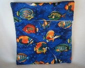 Blue Under the Sea with Tropical Fish Microwave Bake Potato Bag