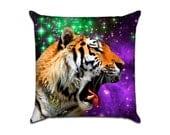 Outer Space Tiger (2) - Original Graphic Sofa Throw Pillow