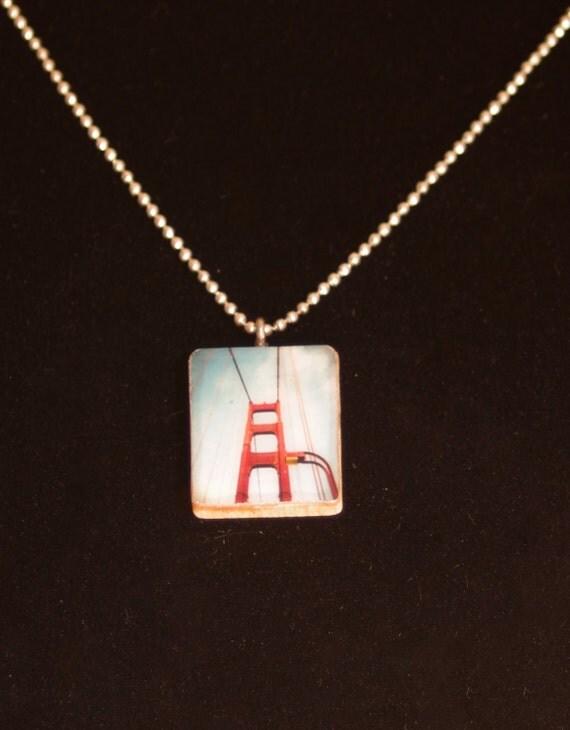 Photo pendant necklace golden gate bridge jewelry for Golden gate bridge jewelry