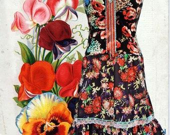 Gorgeous Ibiza Hippie Boho flower dress
