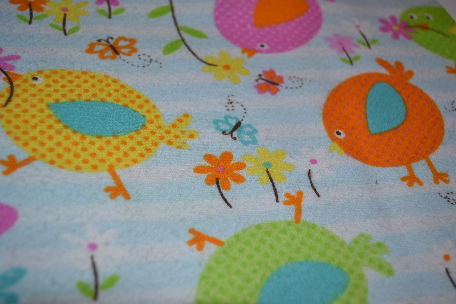 Bright birds snuggle flannel fabric by the yard sewing and for Sewing fabric by the yard