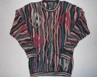 Peggy Capital One Prime Credit Sweater, Coogi Look, Tacky Gaudy Ugly Christmas Party X-Mas Holiday Halloween Costume LT L Large Tall
