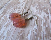 Opal Pink Earrings, Teardrop Earrings, Dangle Everyday Jewelry