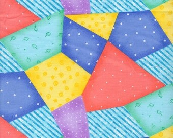 Baby Love Crazy Patch fabric by Springs- 1 yard