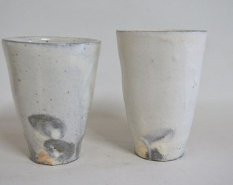 White slip cups 4419, white slip, wood fired