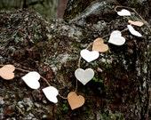 Rustic Heart Garland - Wedding Garland - Valentine Garland