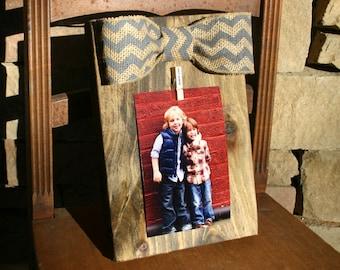 Decorative Wood Picture Hanger 5x7