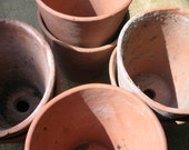 Terracotta plant pot, clay pot, succulent planter, vintage flower pot, vintage planter