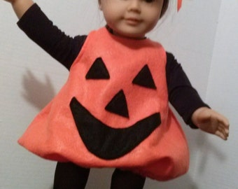 Pumpkin costume for American girl dolls