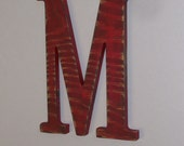 Wood Wall Letter 12-inch Distressed Initial Letter M Any Letter Wall Hanging Monogram
