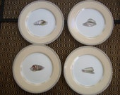 Fitz and Floyd Coquillier Bread Butter Plates Retired Collectible Set of 4 NOS